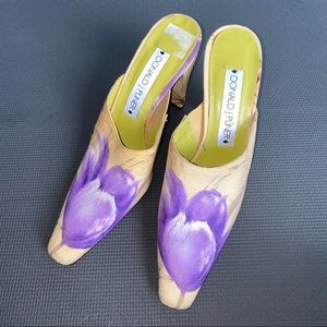 🇪🇸 Donald J Pliner floral mules Made in Spain
